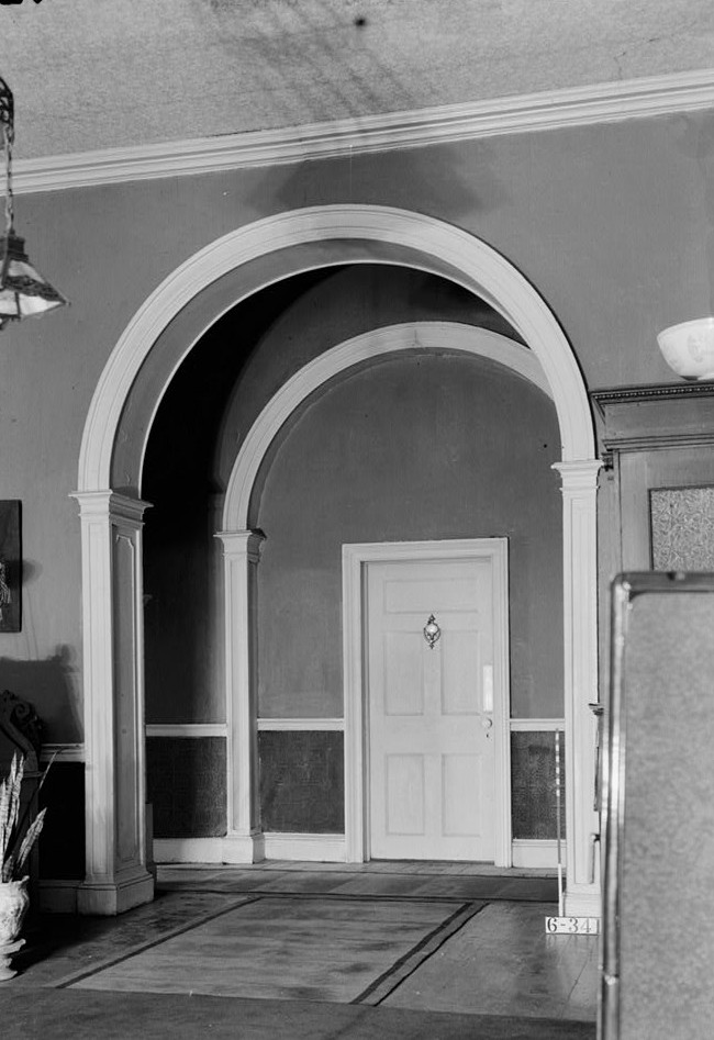 Nathaniel R. Ewan, Photographer October 16, 1936 Enrance Arch detail