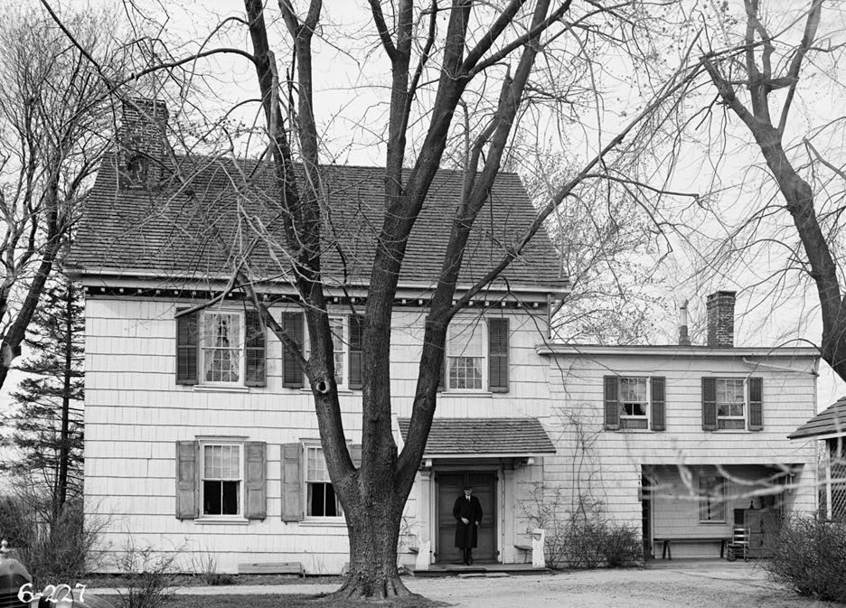 R. Merritt Lacey, Photographer April 1, 1936 EXTERIOR - SOUTH ELEVATION - General Clinton Headquarters, West Main Street, West Freehold, Monmouth County, NJ
