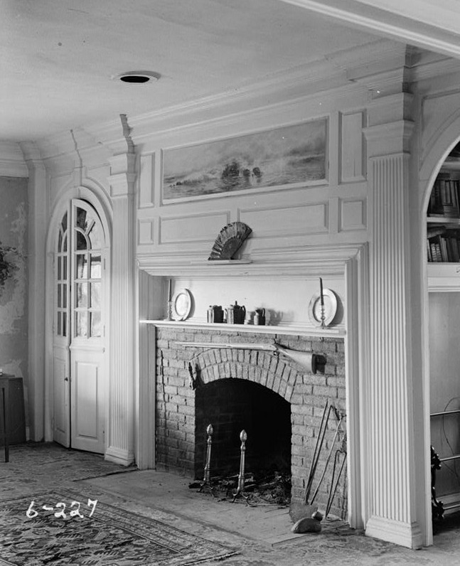 R. Merritt Lacey, Photographer April 1, 1936 interior - living room - General Clinton Headquarters, West Main Street, West Freehold, Monmouth County, NJ