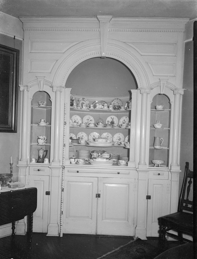 R. Merritt Lacey, Photographer April 7, 1936 Interior - dining room - wine cellarette - Governor Belcher Mansion, 1046 East Jersey Street, Elizabeth, Union County, NJ