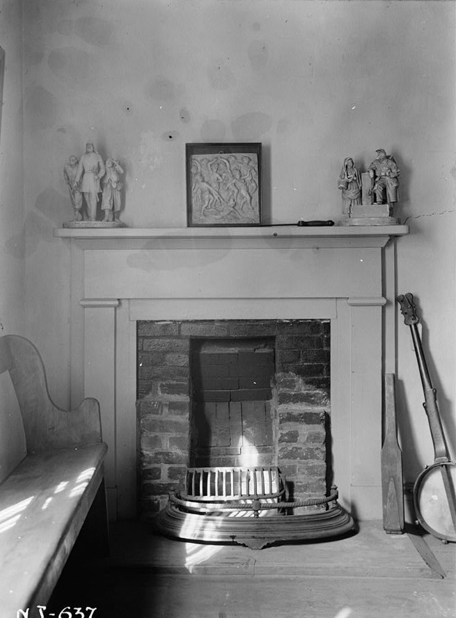 R. Merritt Lacey, Photographer September 16, 1940 Interior living room mantel detail- Kearny Cottage, Catalpa Avenue, Perth Amboy, Middlesex County, NJ