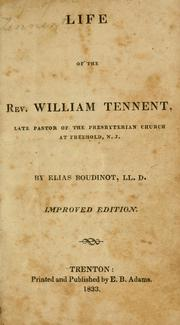 Rev. William Tennent book