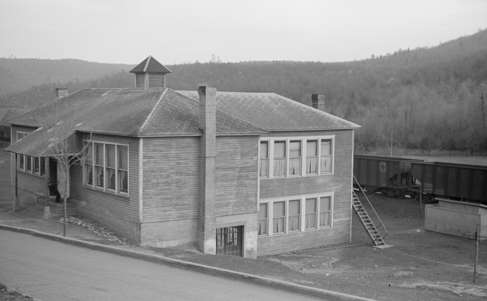 School in company-owned coal town, Kempton, West Virginia