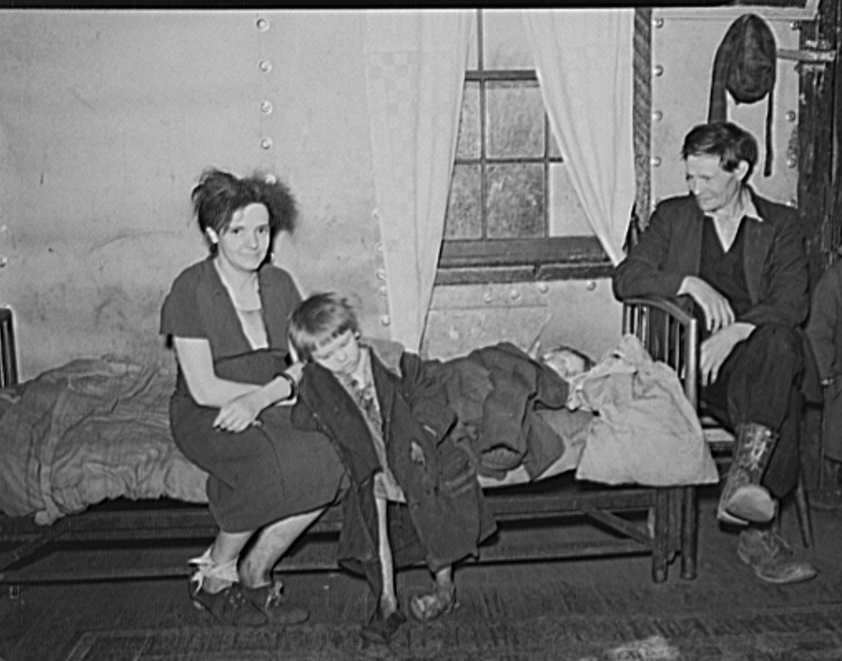 The Blizzard family, residents of coal mining town. Kempton, West Virginia