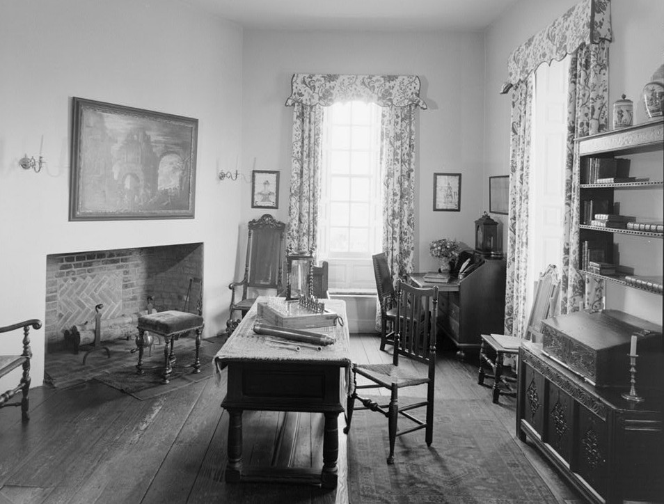 Trent House, 15 Market Street changed from 539 South Warren Street, Northwest room looking to west Trenton, Mercer County, NJ