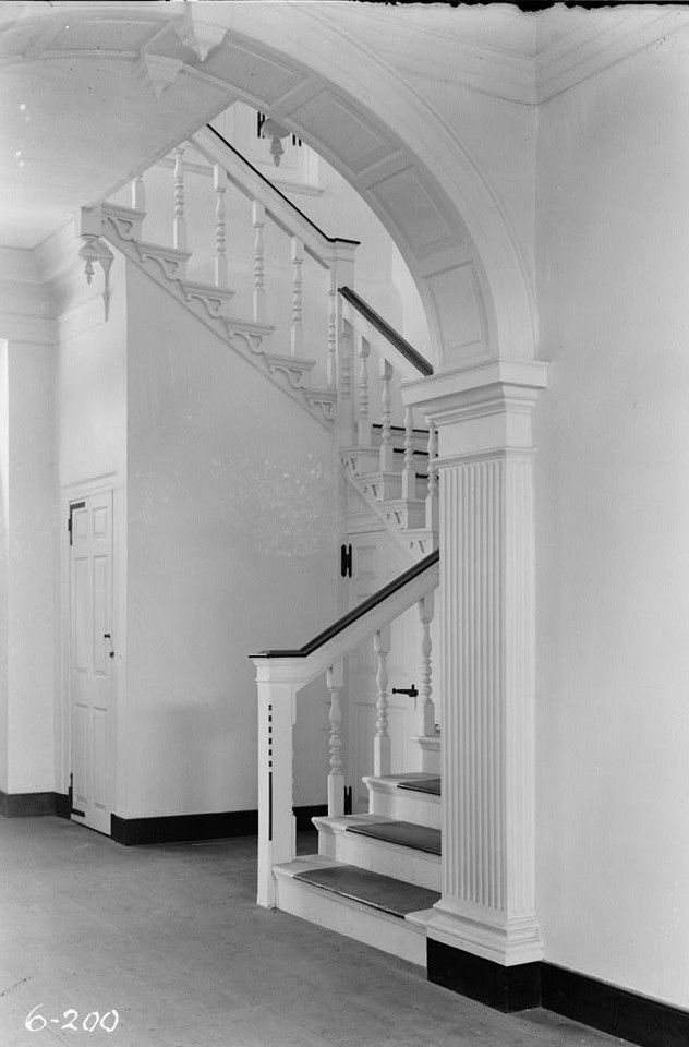 Trent House, 15 Market Street changed from 539 South Warren Street, interior stairwell2- Trenton, Mercer County, NJ