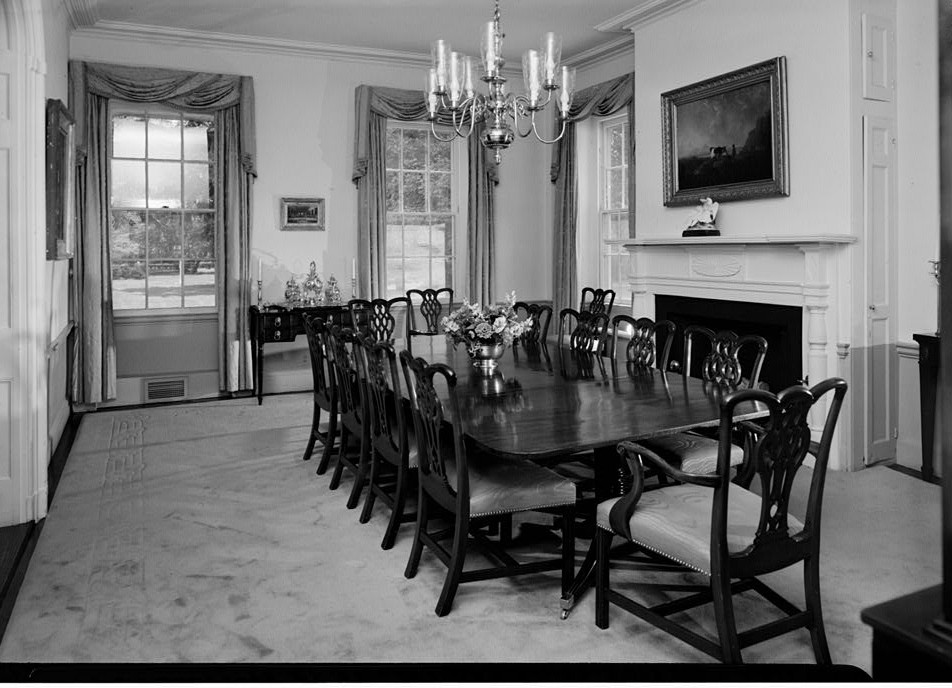 View of Dining room from the east ca 1935- Morven, 55 Stockton Street (U.S. Highway 206), Princeton, Mercer County, NJ