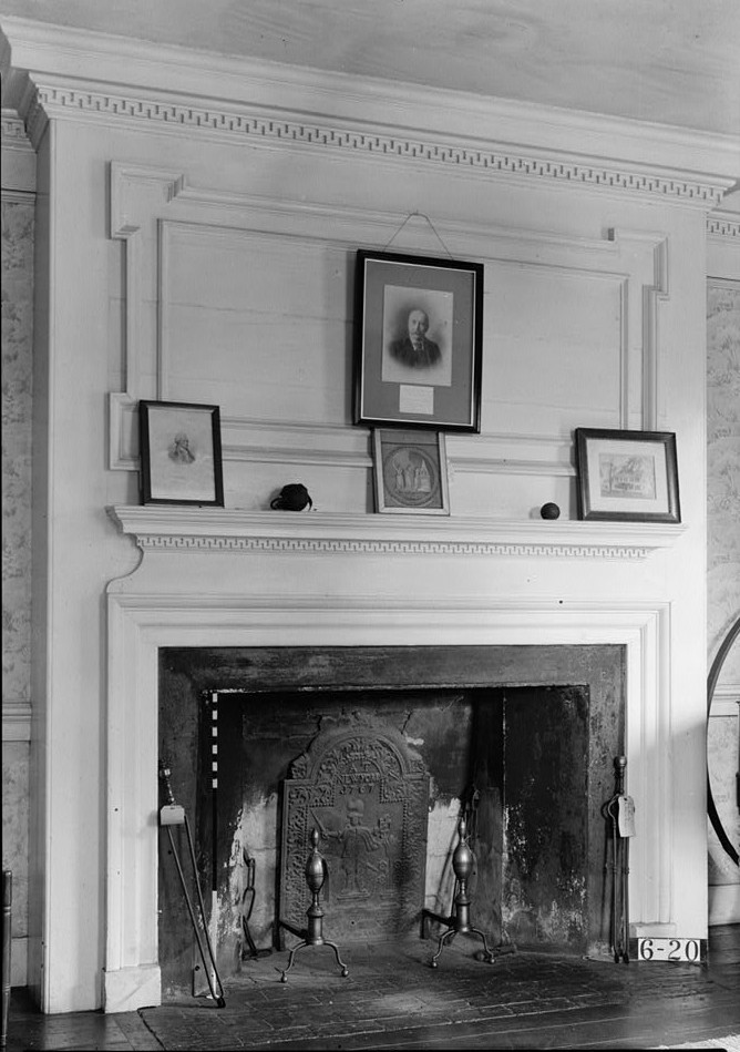 Wallace House, Washington Place, Somerville, Somerset County, NJ by photographer Nathaniel R. Ersin ca. 1934 Gen. Washington's room mantel detail
