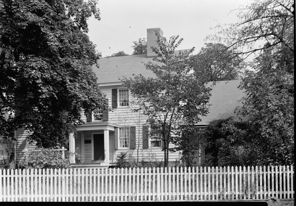 Wallace House, Washington Place, Somerville, Somerset County, NJ by photographer Nathaniel R. Ersin ca. 1934