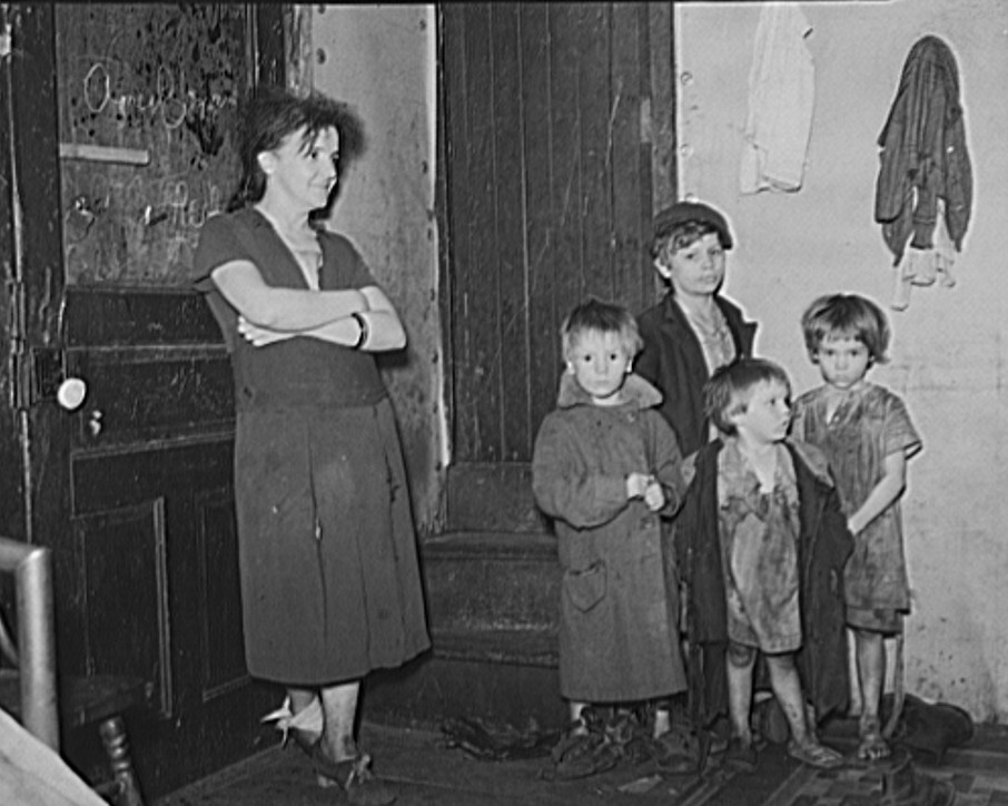 Wife and children of coal miner. Kempton, West Virginia
