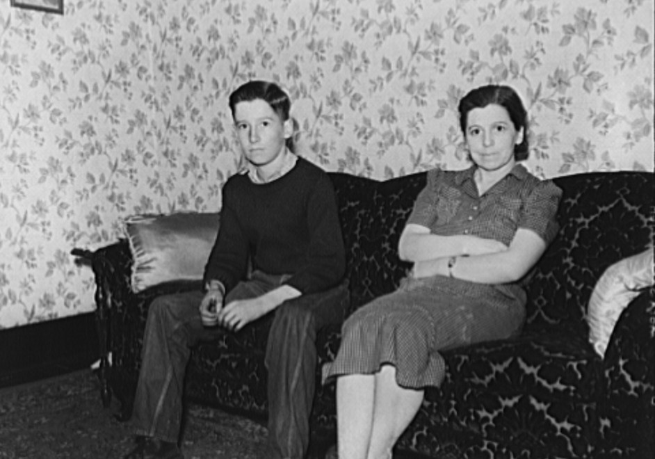 Wife and son of coal miner in their home. Kempton, West Virginia