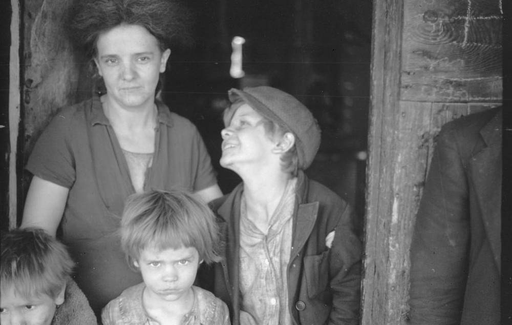Wife and two children of George Blizzard, striking coal miner. Kempton, West Virginia