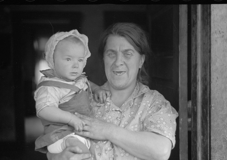 Wife of coal miner with grandchild. Kempton, West Virginia