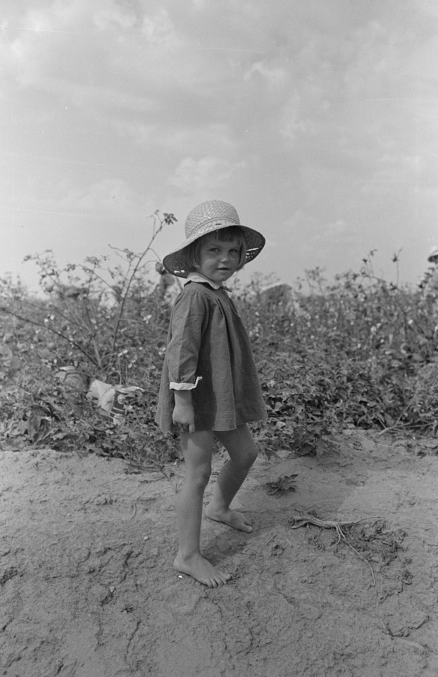 Young often children went to the cotton fields with their parents