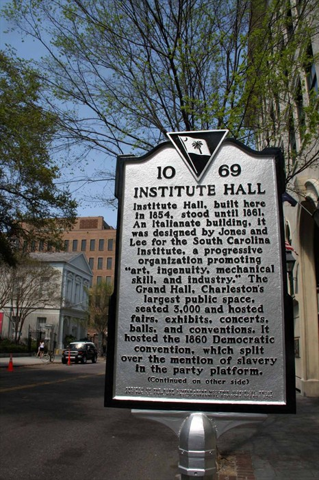 institute hall historical marker