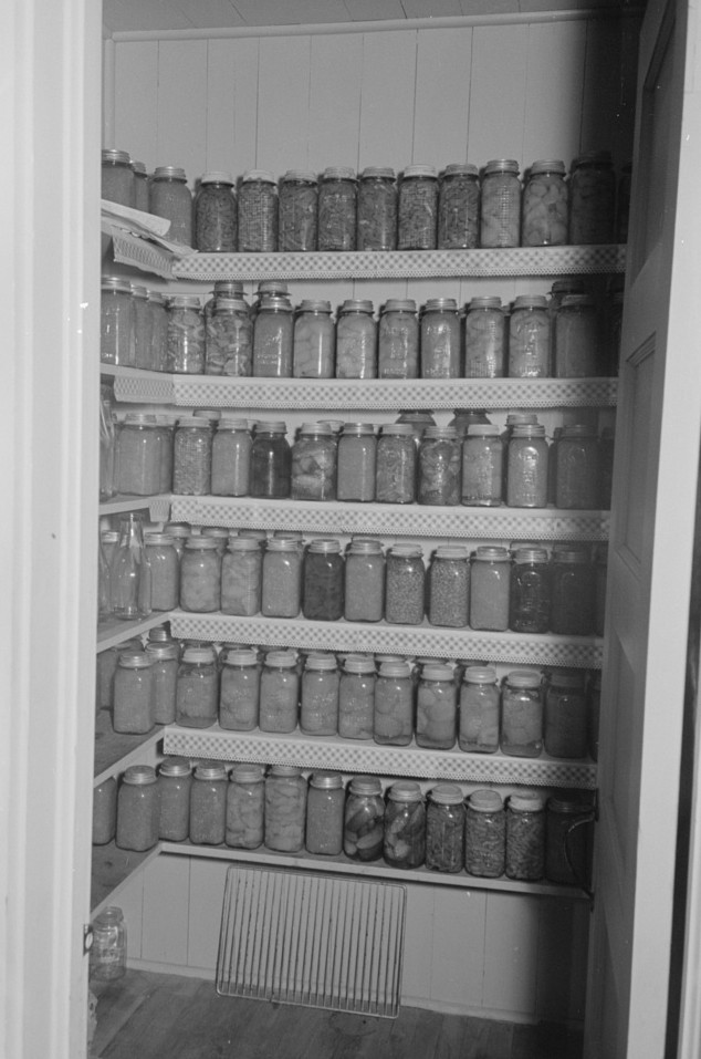 lake dick Canned goods in project home, Lake Dick, Arkansas