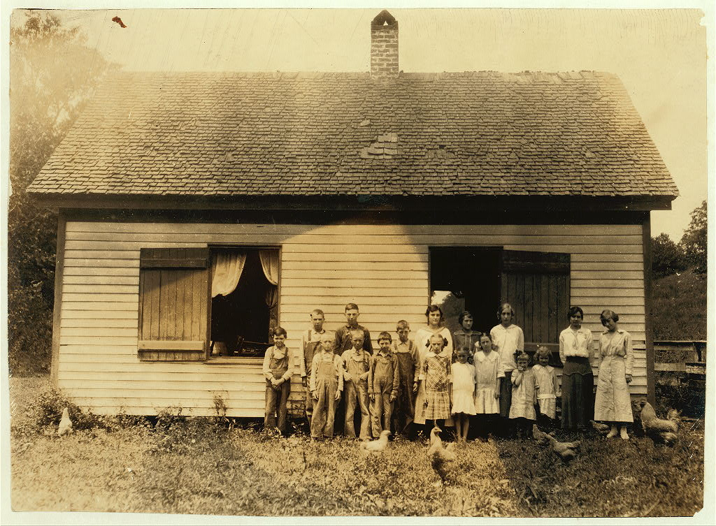 A Kentucky school. Name and data to be added later if possible. Lewis W. Hine. in another handwriting Bush School, Clark Co., Ky. Location Clark County--Winchester, Kentucky. 1916
