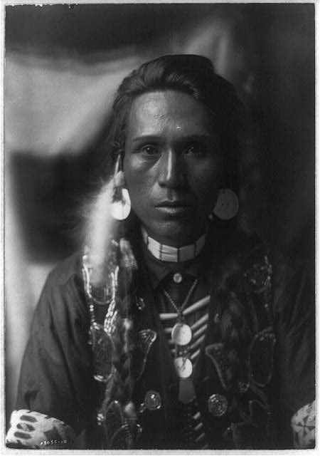 A young Yakima by Edward S. Curtis ca. 1903