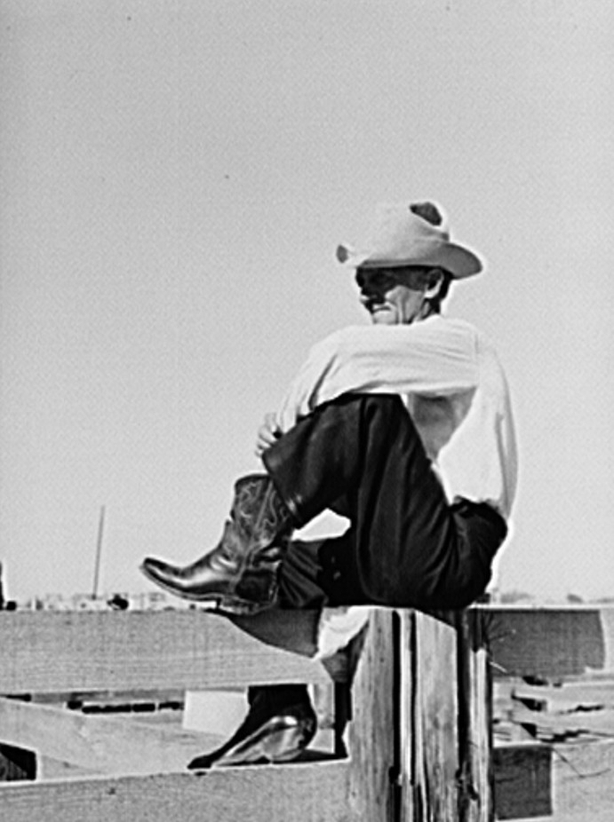 Cowboy. Imperial County Fair, California photographer Russell Lee 1943