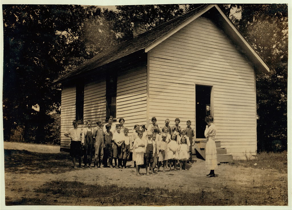 Indian Field School.1916 Location Clark County, Kentucky Lewis W. Hine.