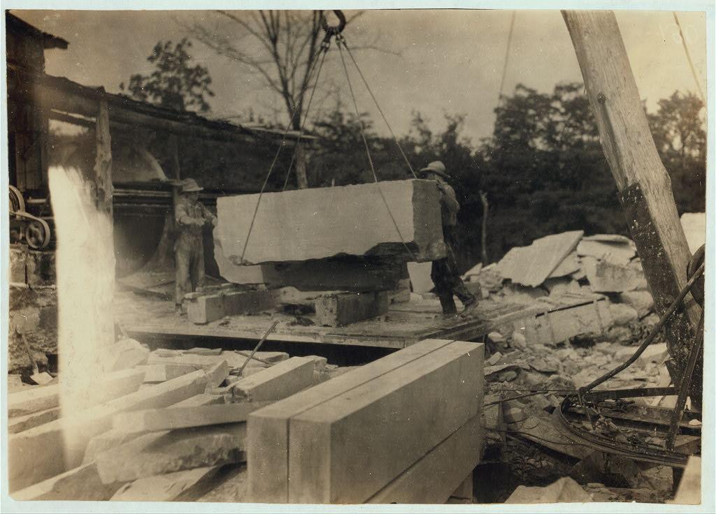 Quarry Scene, Warren County, Kentucky 1916 by Lewis Wickes Hine