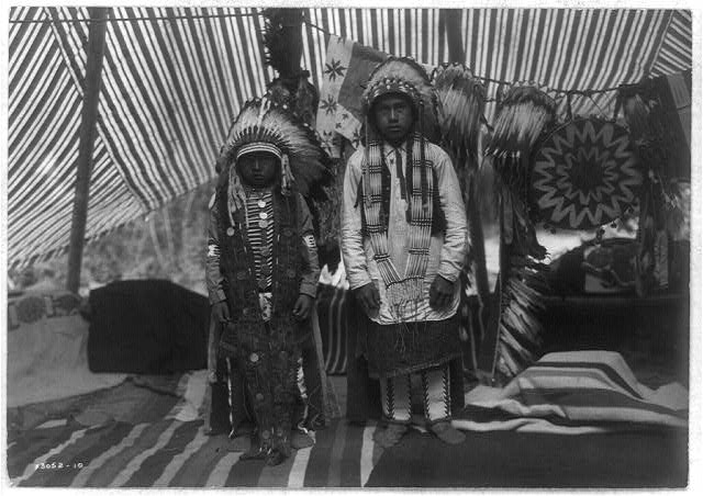 Sons of Yakima chief by Edward S. Curtis c.a. 1903