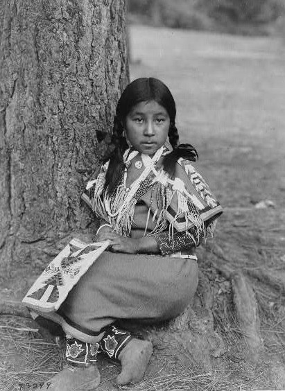 Umatilla child by Edward S. Curtis ca. 1903