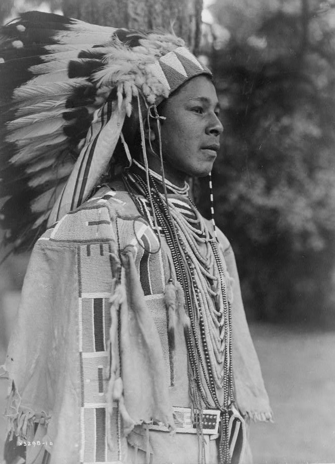 Youth in holiday costume-Umatilla by Edward S. Curtis ca. 1903