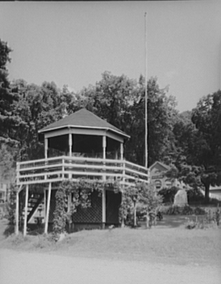 bandstand Bethel, Vermont 1937 by photographer Arthur Rothstein