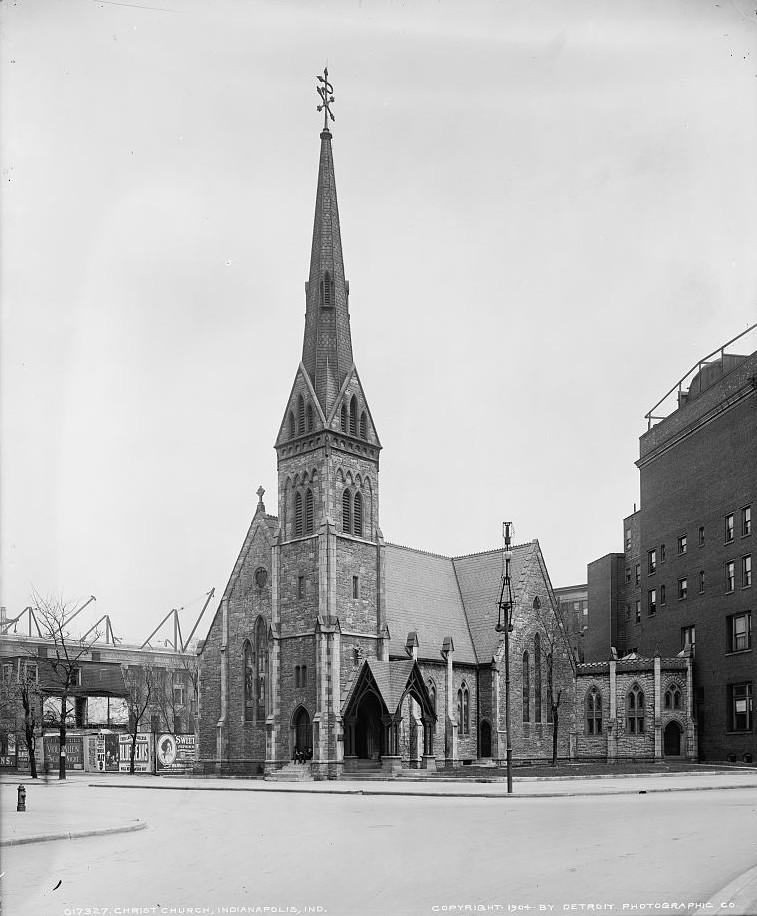 Christ Church, Indianapolis, Indiana ca. 1904 Detroit Publishing Company