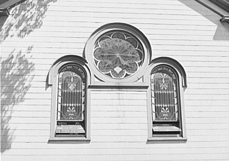 Church. Midland, Michigan by photographer John Vachon 1941