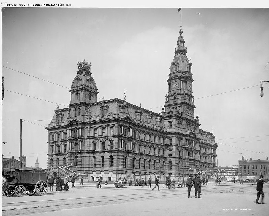 Court House, Indianapolis, Indiana ca. 1904 Detroit Publishing Company