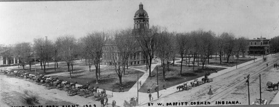 Court house, Goshen, Indiana by W. Parfitt. 1909