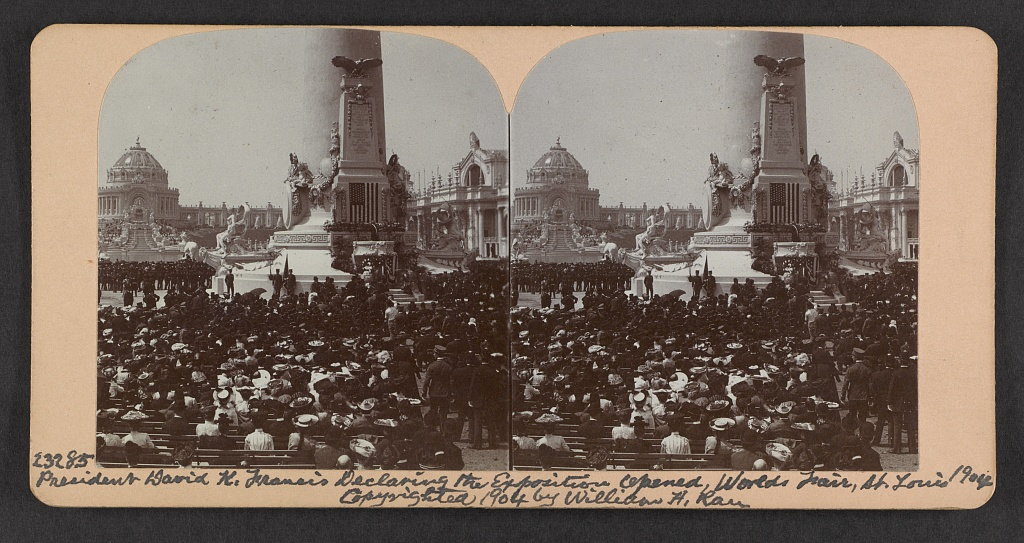 David K. [i.e., R.] Francis declaring the exposition opened, World's Fair, St. Louis, 1904