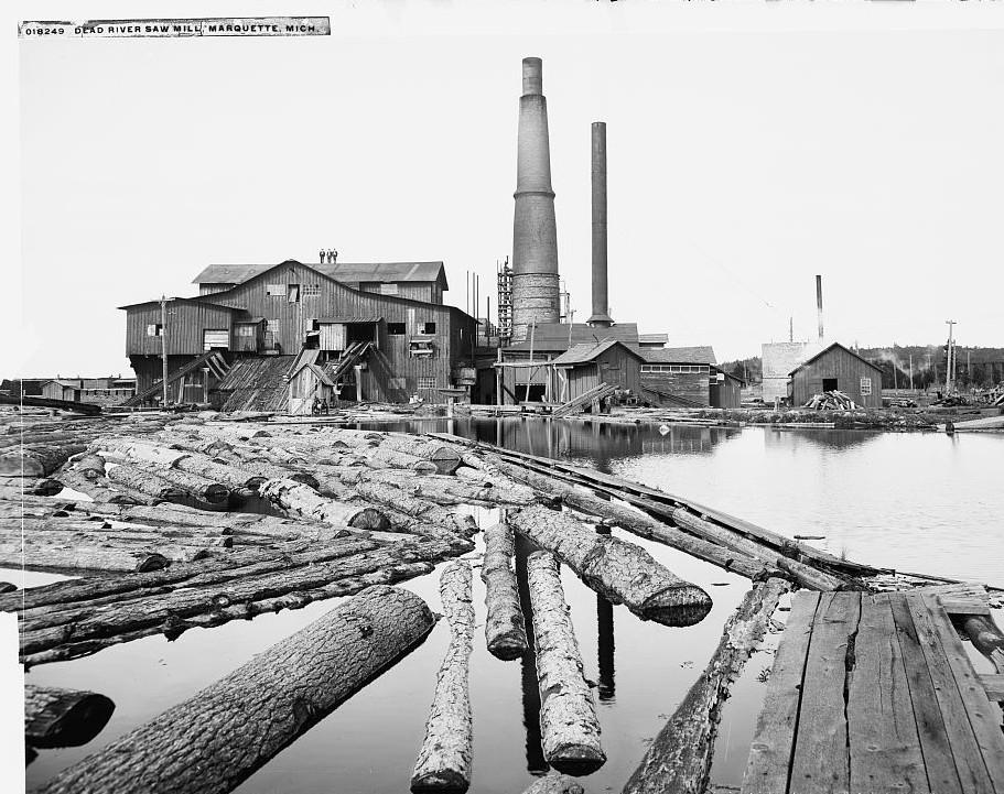Dead River saw mill, Marquette, Mich. Detroit Publishing 1906