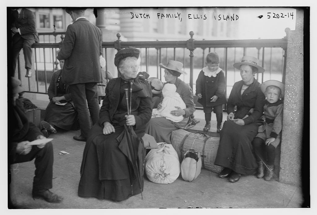 Dutch family, Ellis Island ca. 1909 Bain News Service