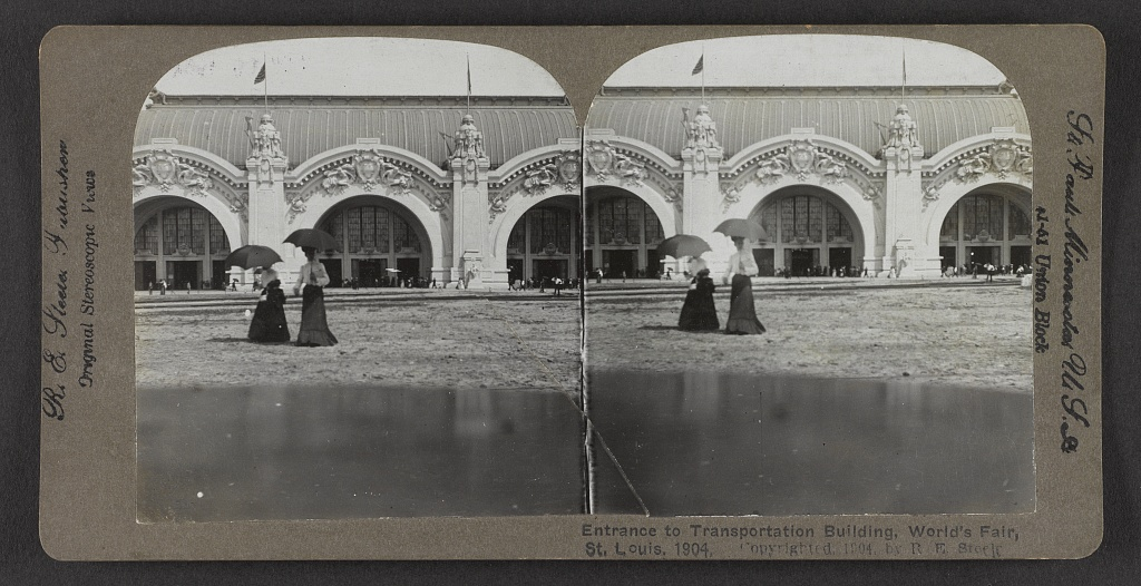 Entrance to Transportation Building, World's Fair, St. Louis, 1904