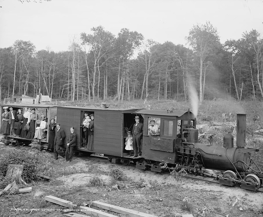 Excursion logging train, Harbor Springs, Mich. Detroit Publishing 1906