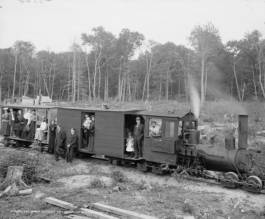Excursion logging train, Harbor Springs, Mich. Detroit Publishing 1906