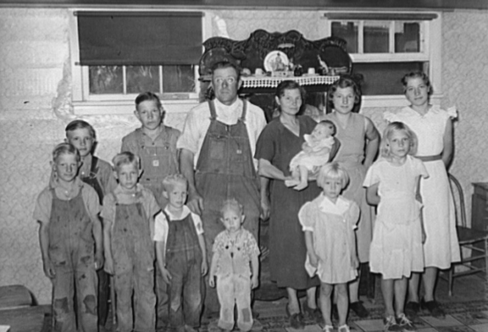 Family of William Rall, FSA (Farm Security Administration) client in Sheridan County, Kansas