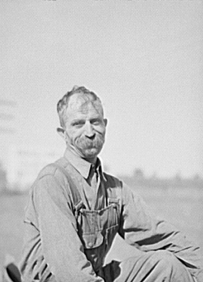 Farmer. Isabella County, Michigan 1941 by photographer John Vachon2