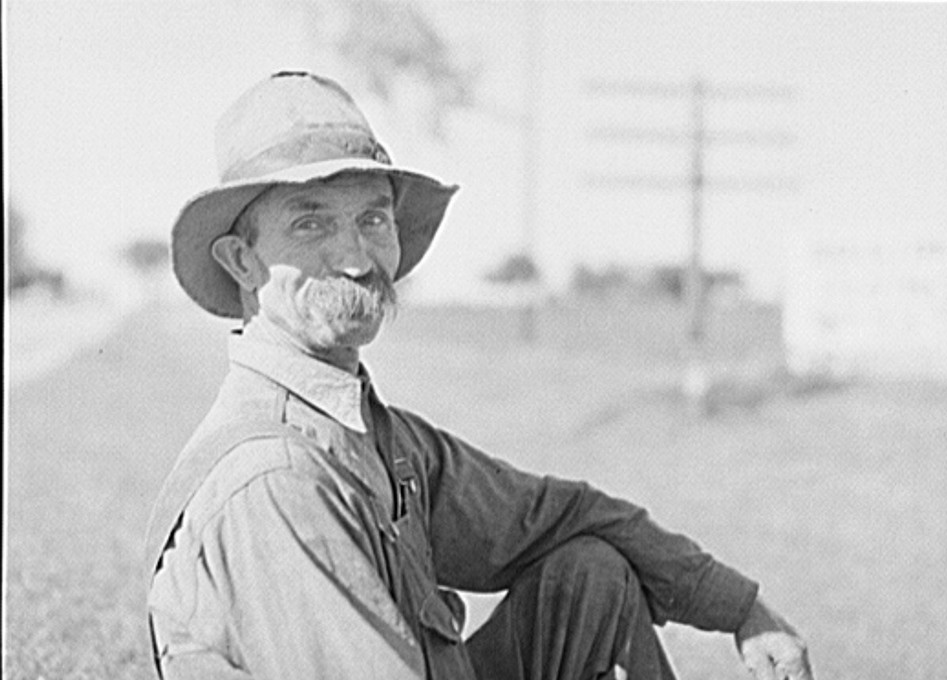 Farmer. Isabella County, Michigan by photographer John Vachon 1941