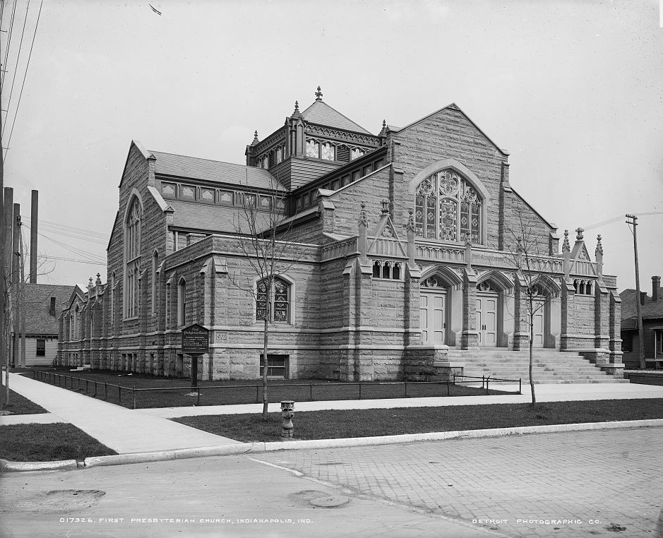 First Presbyterian Church, Indianapolis, Indiana between 1905-1915 Detroit Publishing Company