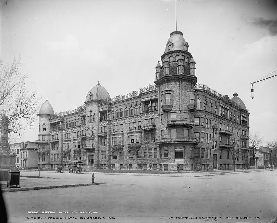 Imperial Hotel, Indianapolis, Indiana ca. 1904 Detroit Publishing Company