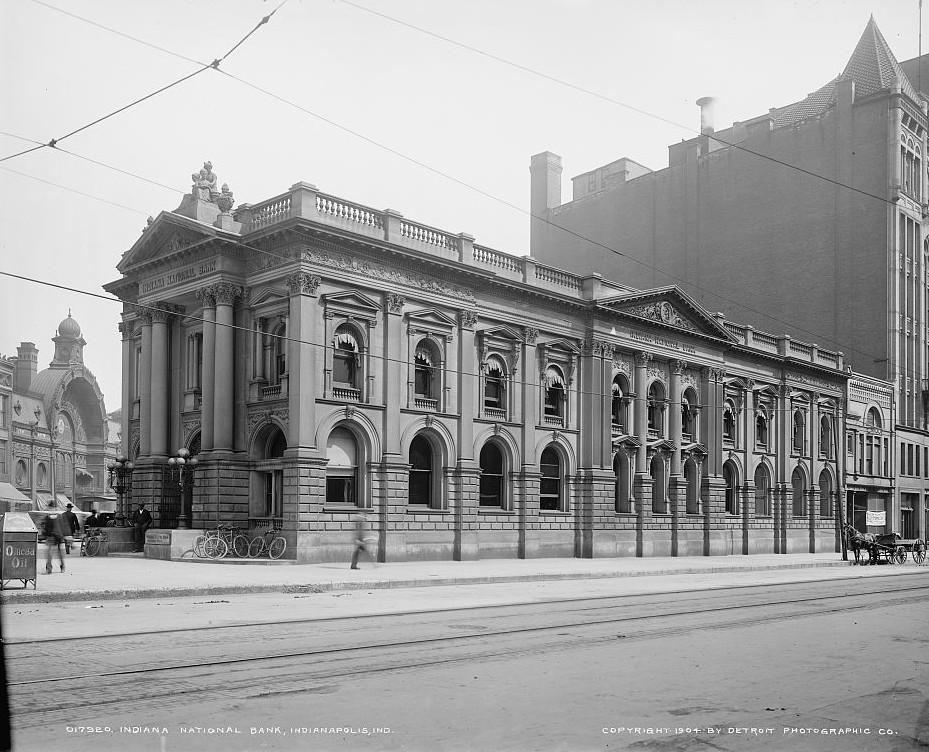 Indiana National Bank, Indianapolis, Indiana 1904 Detroit Publishing Company