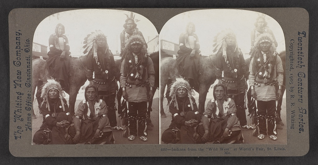 Indians from the Wild West at World's Fair2, St. Louis, Mo.