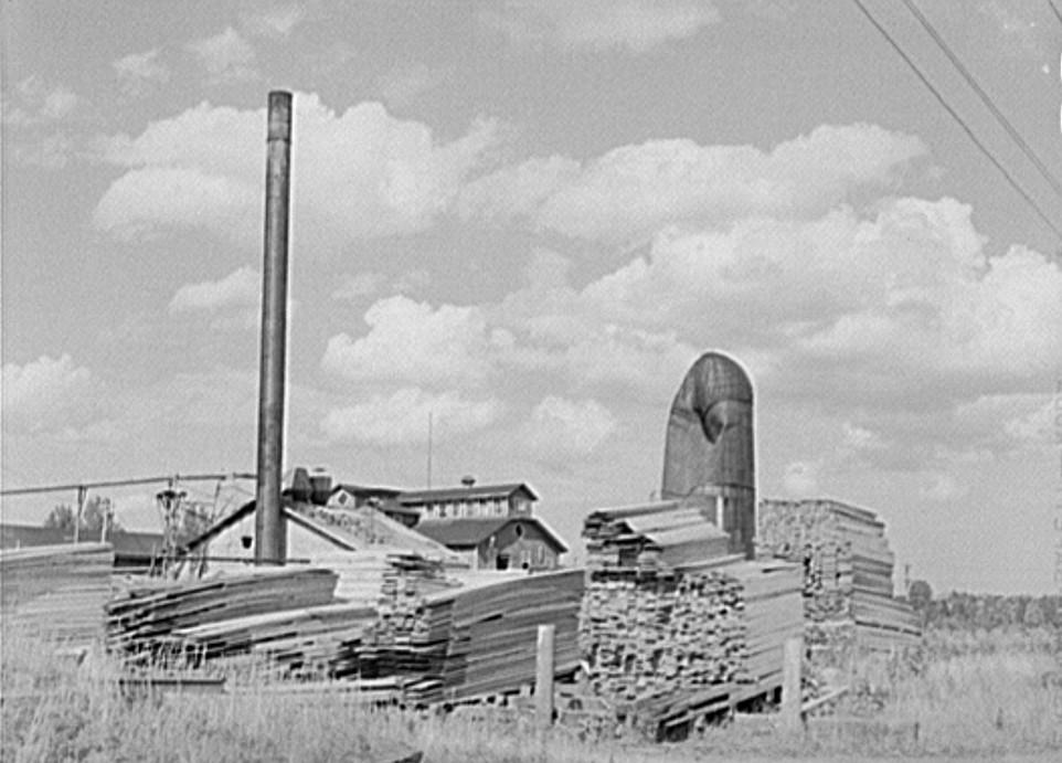 Lumber mill. Trout Creek, Michigan by photographer John Vachon 1941