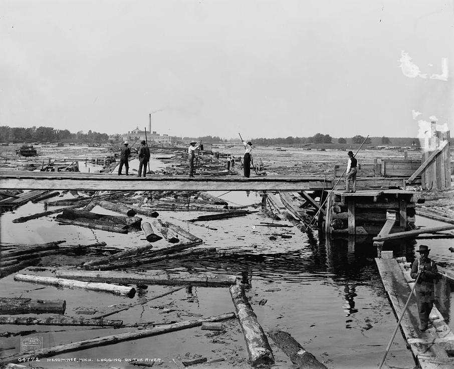 Menominee, Mich., logging on the river Detroit publishing ca. 1898