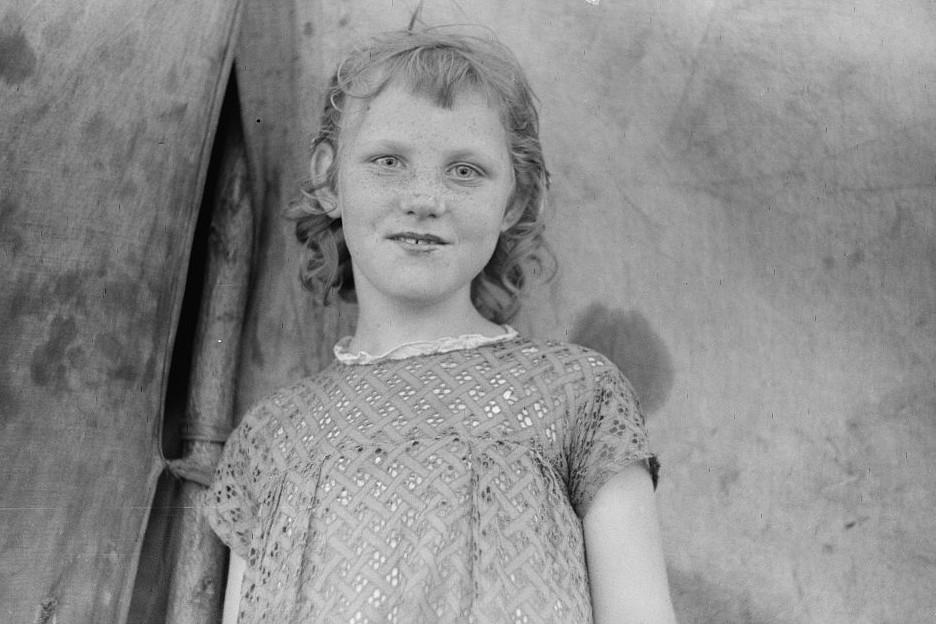 Migrant child, Berrien County, Michigan July 1940