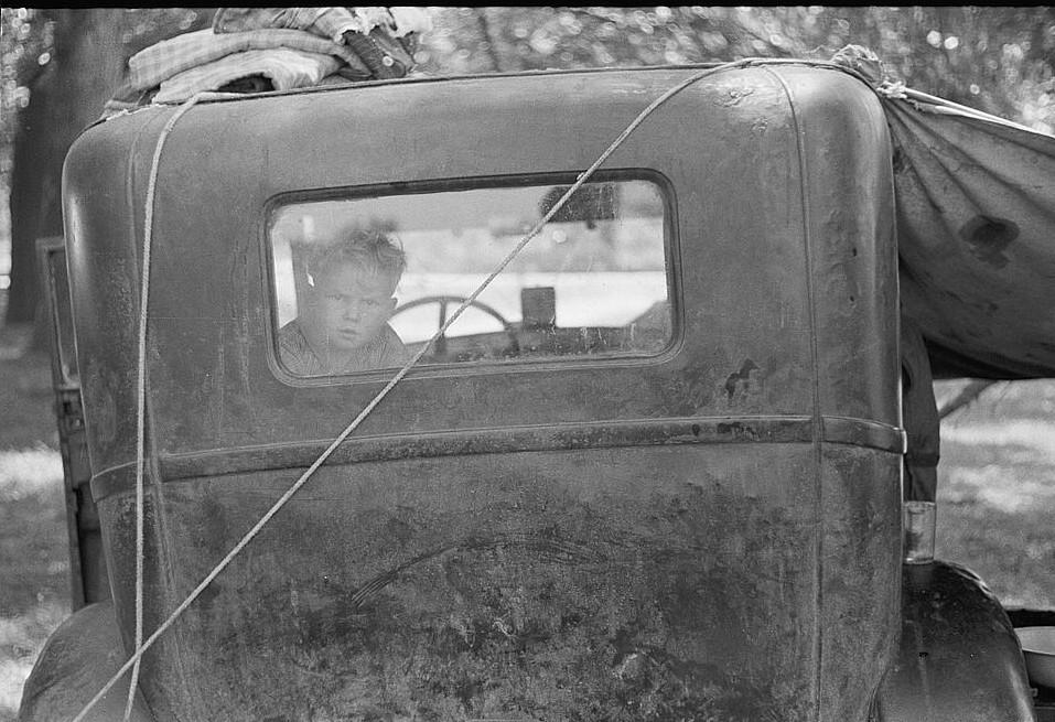 Migrant child from Arkansas, Berrien County, Michigan 1940